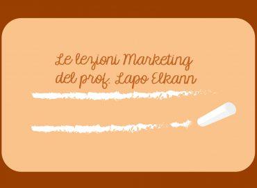 Le lezioni marketing del prof. Lapo Elkann