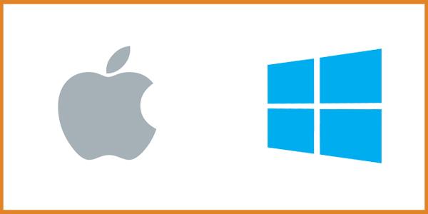 Logo Apple e Microsoft