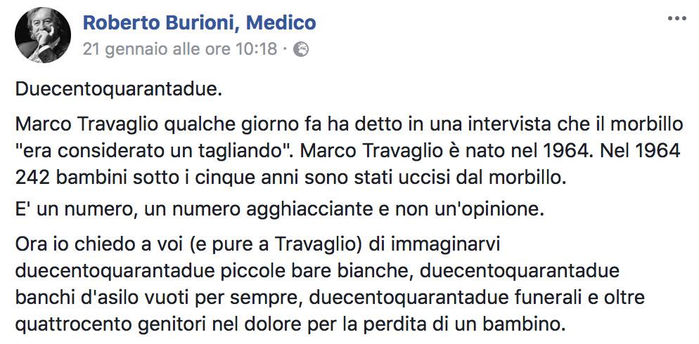 Roberto Burioni post