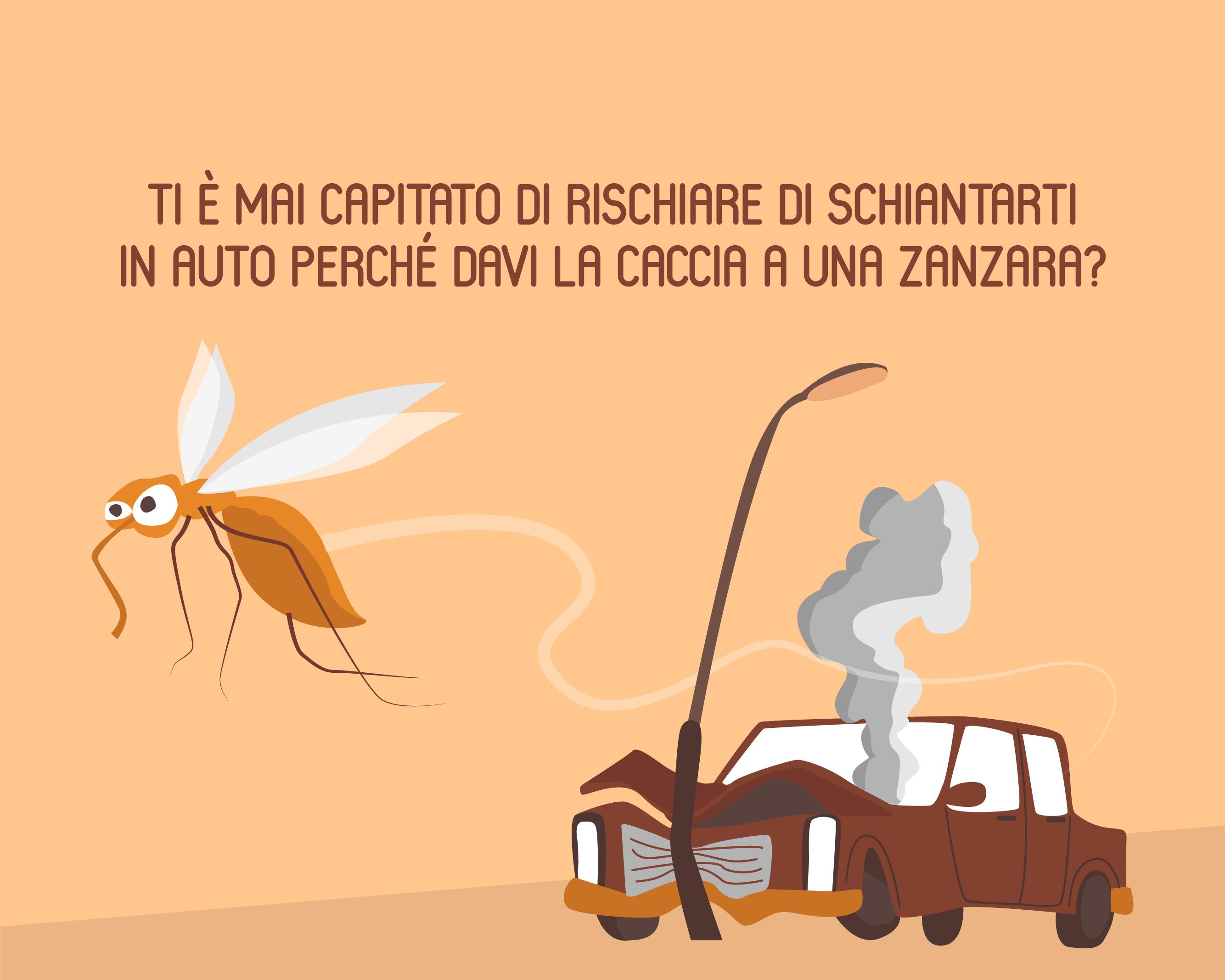 Non sbandare per una zanzara!